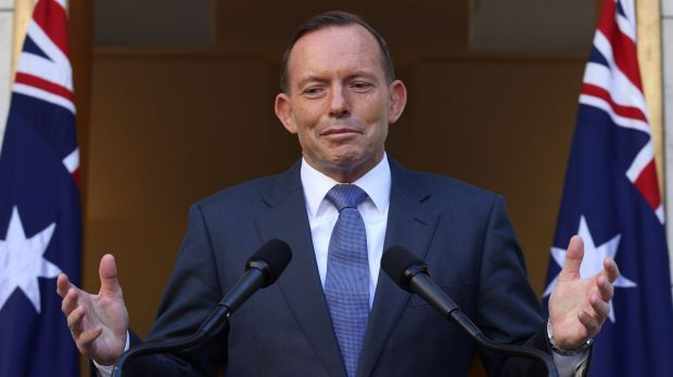 Prime Minister Tony Abbott during a press conference in Canberra this week.