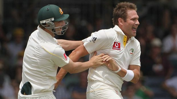 Phillip Hughes and Ryan Harris