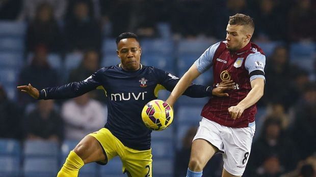 On the outer: United are keen for the on-loan Tom Cleverley to remain in the claret and blue of Aston Villa.
