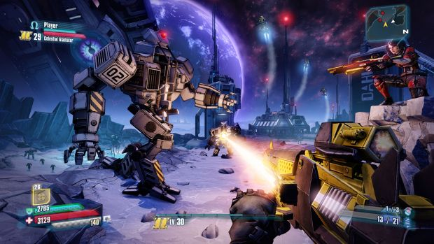 "Oxygen fuelled: Fighting on the moon is among ""The Pre-Sequel's"" few gameplay innovations."