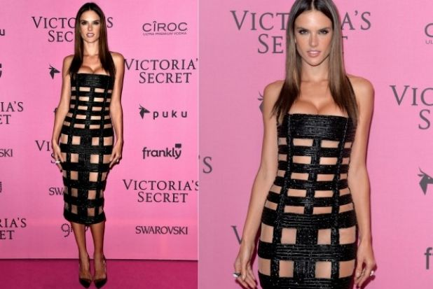 THE ALMOST: I'm getting actual phantom sympathy breast pain just from looking at Alessandra Ambrosio in this Balmain ...