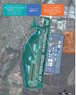 There were originally two rival proposals for the Moorebank site.