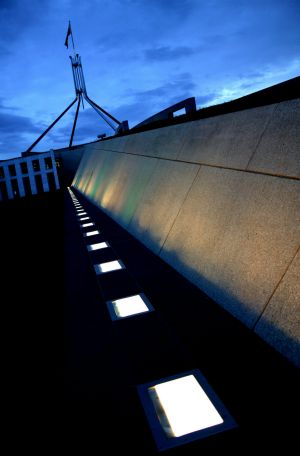 Parliament House in Canberra. Malcolm Fraser's government oversaw a design competition for the new building.