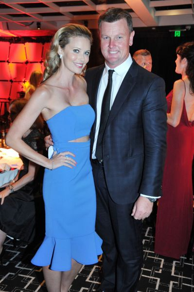 Anthony and Kelly Bell at the Loyal Foundation Sail With the Stars Gala Dinner.