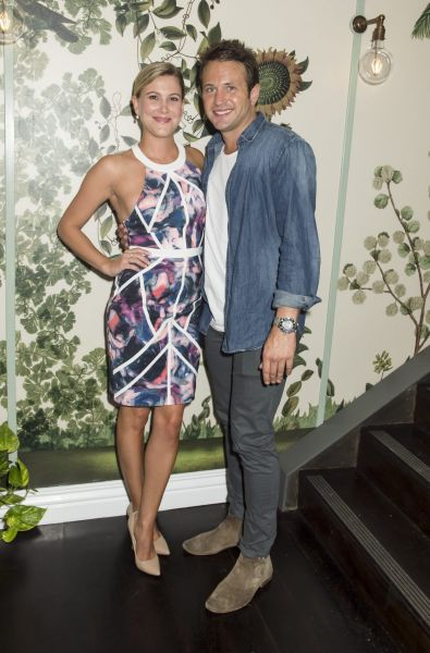 Justine Schofield and Matt Doran at The Butler launch.