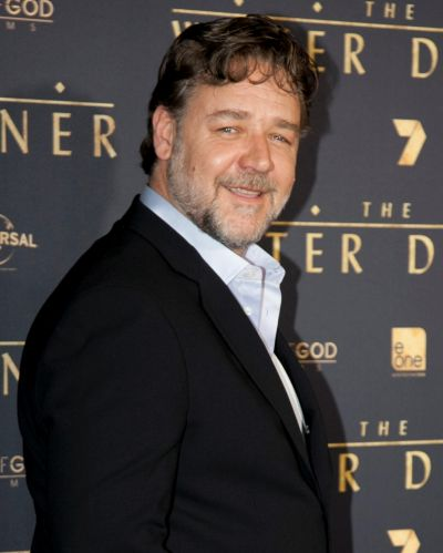 From left: Russell Crowe at The Water Diviner premiere, Rivoli Cinemas.