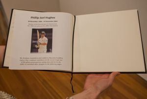 Remembrance: The Bradman Museum at Canberra Museum and Gallery have a condolence book in memory of Phillip Hughes.