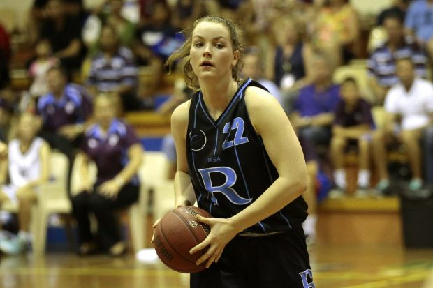 Rowville player Rachel Brewster.