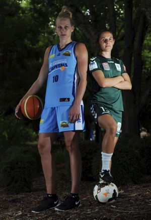 Canberra Capitals captain Abby Bishop and Canberra United skipper Nicole Begg hope women's sport can continue to grow.