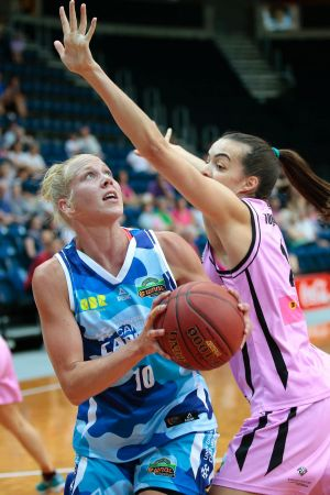 Abby Bishop in action against West Coast earlier this season.