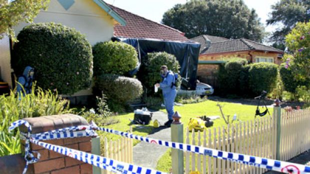 Crime scene ... Michelle Beets's Chatswood home.