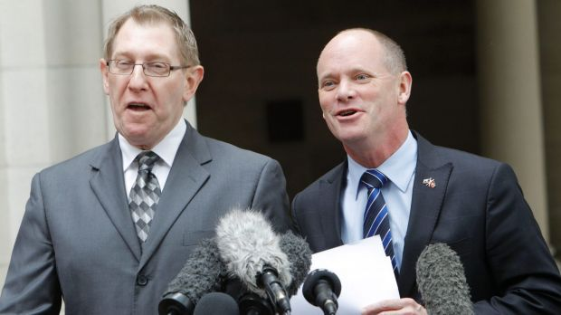 Dr Bruce Flegg in happier times with Premier Campbell Newman.
