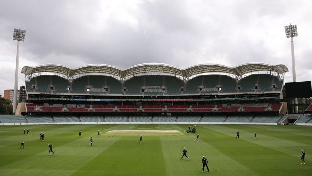 A view of the Adelaide Oval where the first Test will be played.