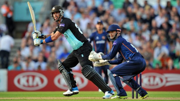 Prized recruit: Kevin Pietersen in action in a T20 match in England.