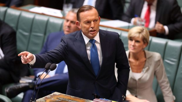 Tony Abbott, whose Direct Action plan isn't finding favour with voters.