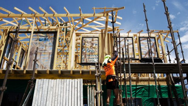 Downturn: Home building continues to decline in Canberra.