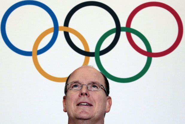Prince Albert II of Monaco poses before the opening ceremony of the 127th IOC session in Monaco.