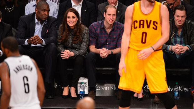 Catherine and William were courtside for the Brooklyn Nets and Cleveland Cavaliers game as protests raged outside.