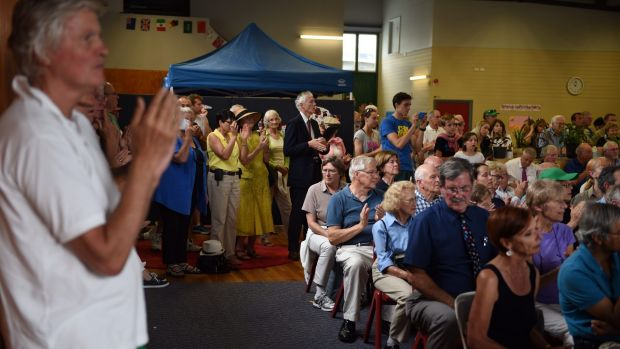 Several hundred people packed into an old drill hall in Mosman in an attempt to stop plans for an 89-bed aged care home ...
