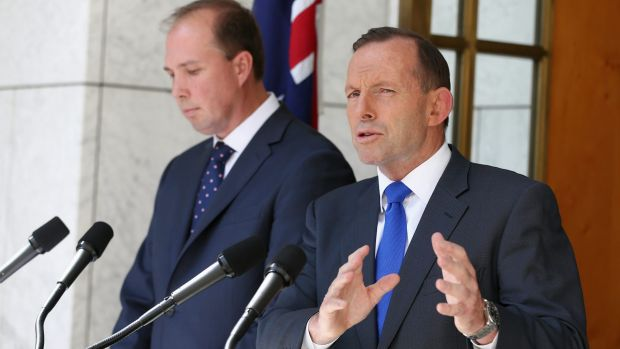 Prime Minister Tony Abbott and Health Minister Peter Dutton address the GP co-payment proposal on Wednesday.