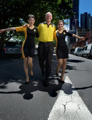 Runway models : Scoot airlines launches a route from Melbourne to Singapore with CEO Campbell Wilson with cabin crew ...