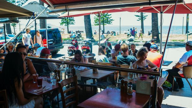 Sea Bar in Dee Why, a good place to eat.