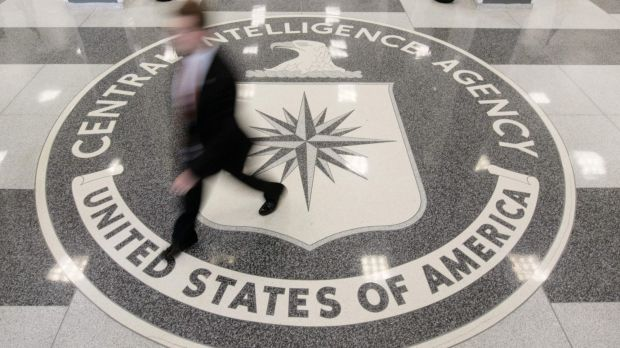 Intelligence gatherer: The lobby of the CIA Headquarters building in McLean, Virginia.