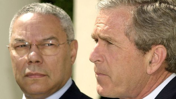 US president George W. Bush and secretary of state Colin Powell in 2002 ... they were not fully briefed on the CIA's ...