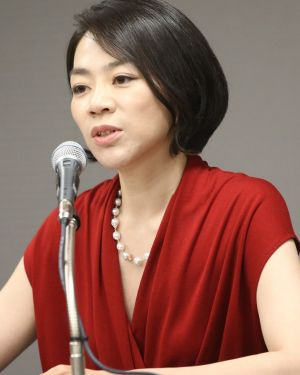 Stepping down: Heather Cho answers questions at a news conference in Incheon on Tuesday.