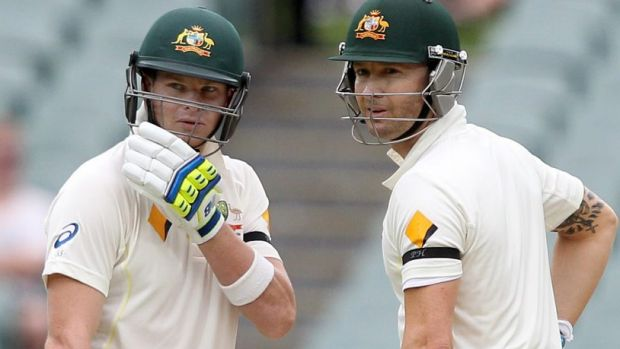 Out with old, in with the new: Ian Chappell believes Steve Smith, left,   should retain the captaincy if Michael Clarke, ...