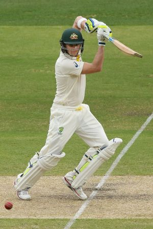 Steve Smith was 98 not out when lunch was called early.