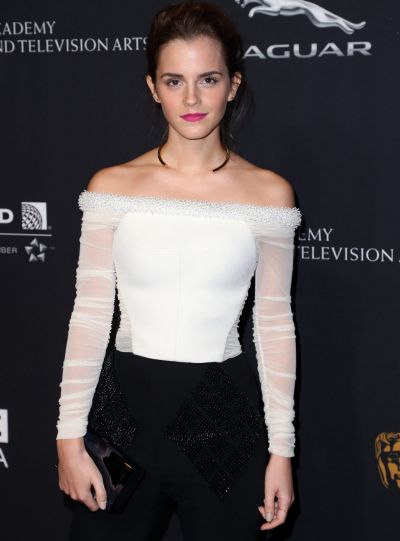Emma Watson attends the BAFTA Los Angeles Jaguar Britannia Awards at The Beverly Hilton Hotel on October 30, 2014 in ...