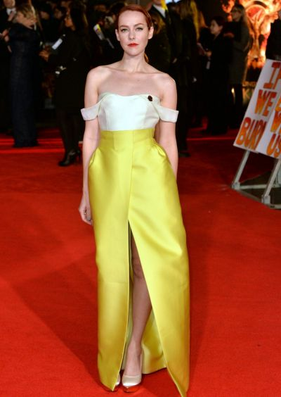 "Jena Malone attends the World Premiere of ""The Hunger Games: Mockingjay Part 1"" at Odeon Leicester Square on November ..."