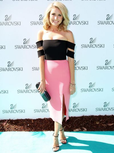 Magdalena Roze arrives at the Swarovski atelier collection garden party launch at The Royal Botanic Gardens on November ...