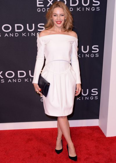 "Kylie Minogue attends the ""Exodus: Gods And Kings"" New York premiere at the Brooklyn Museum on December 7, 2014 in New ..."