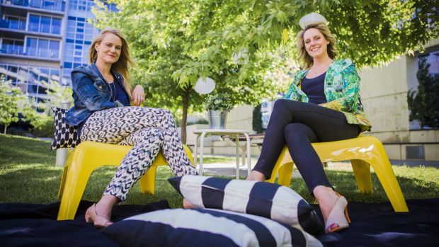 Founders of Night Market Canberra, (from left) Marissa Christian and Natalie Weber.