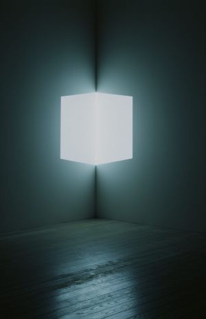 One of the artworks at the James Turrell exhibition.
