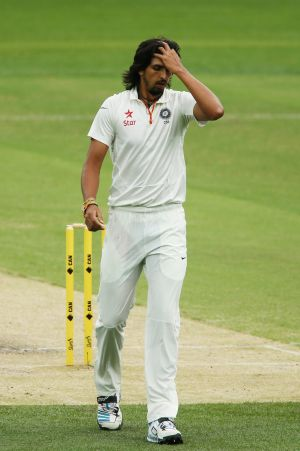Late in the day, Ishant Sharma sprayed five wides down the leg side.