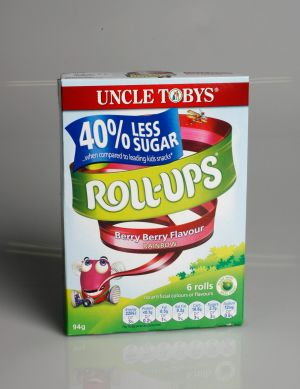 "Uncle Tobys Roll Ups, which proclaims among its ""nutritional benefits"" that it is ""made with real fruit"", only contained ..."