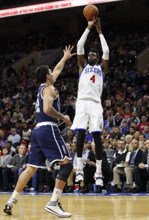Delayed start: Philadelphia forward Nerlens Noel is playing his rookie season this year after sitting out the 2013-14 ...