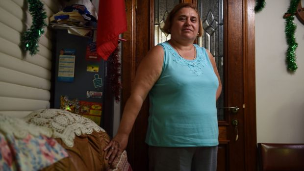Painful wait: Maria Curcio has had three hernia operations cancelled in the past 13 months.