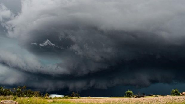 Storm view from Stanthorpe. Courtesy of Kathleen Gaske.