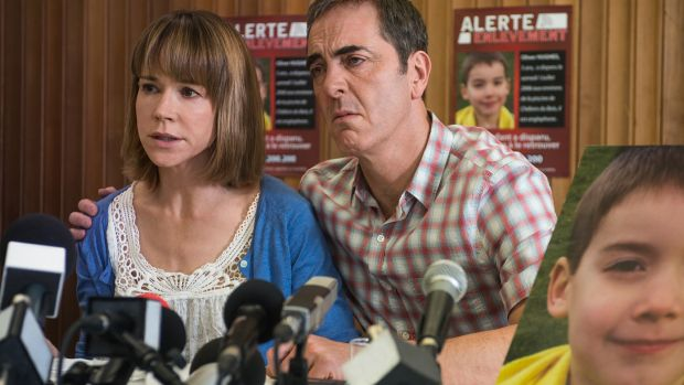 Frances O'Connor with co-star James Nesbitt: <i>The Missing</i> was nominated for a Golden Globe for Best Miniseries.