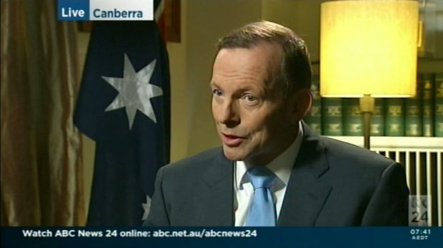 Prime Minister Tony Abbott made the comments during an interview on ABC News Breakfast.