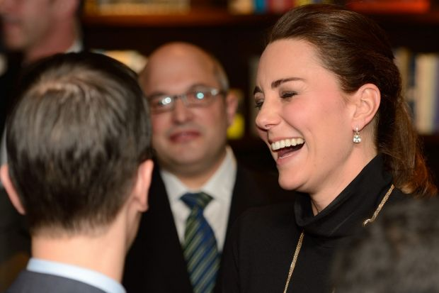 The Duchess of Cambridge tapping into her best Kate Middleton impression during a reception in New York.