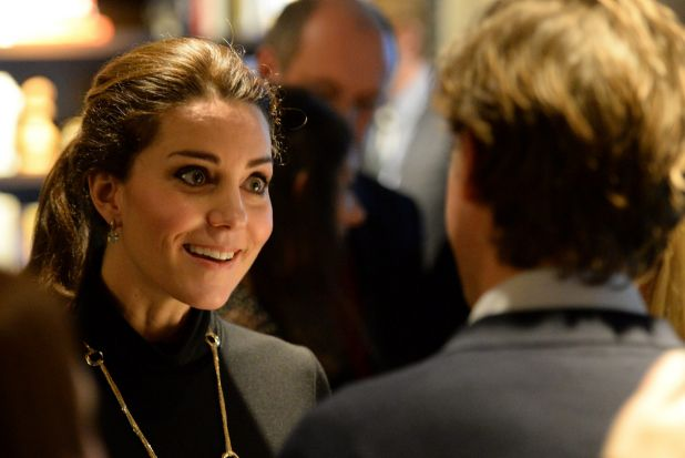 The Duchess of Cambridge tapping into her best Kate Middleton impression during a the Innovation is GREAT reception in ...