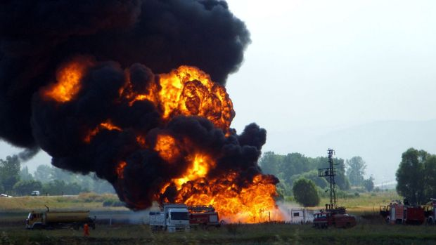 Revealed as a cyber attack: Firemen struggle to extinguish the fire at the Baku-Tbilisi-Ceyhan pipeline near the eastern ...