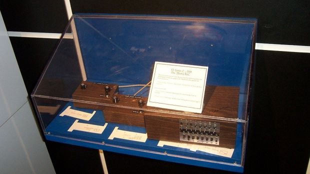 The original 'Brown Box' prototype, now held at the Smithsonian Institute.