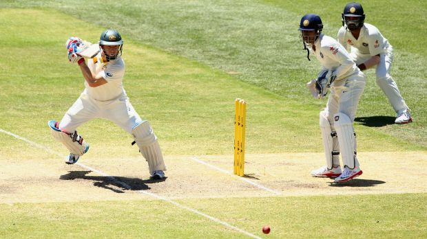 Australia are back into bat after bowling India out for 444.