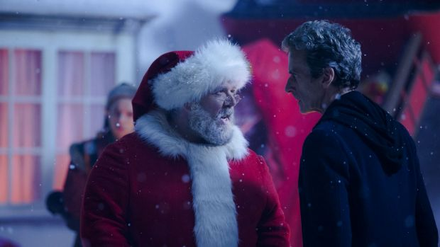 Full of zing: Nick Frost as Santa and Peter Capaldi as <i>Doctor Who</i>.